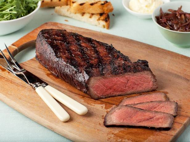 London Broil Steak With Onion Marmalade
