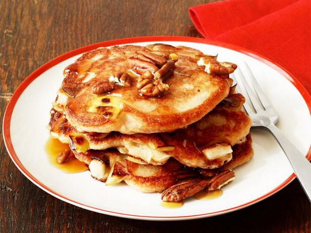 Pancakes On Sourdough With Apples