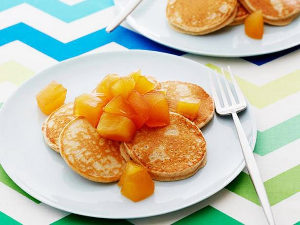 Wholegrain Pancakes With Apple Compote