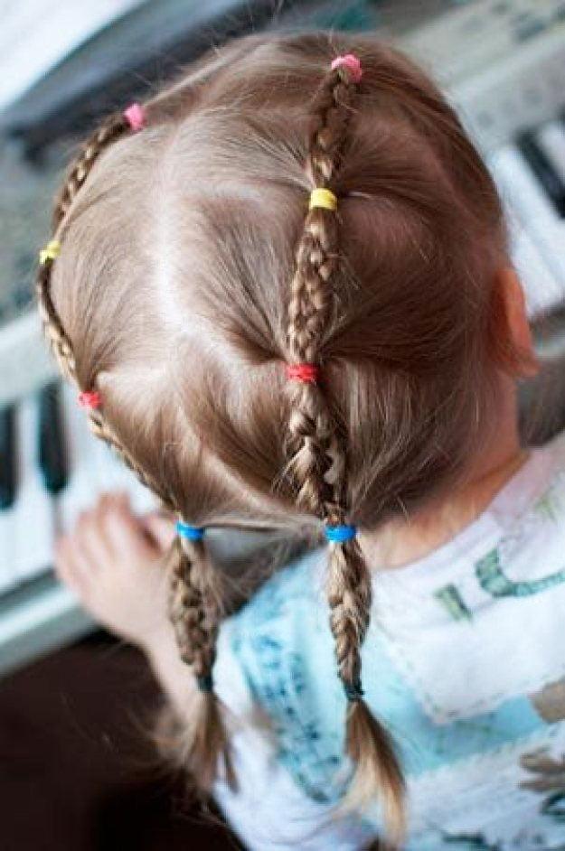 11 Simple Easy Little Girl Hairstyles - hairstyle in kindergarten