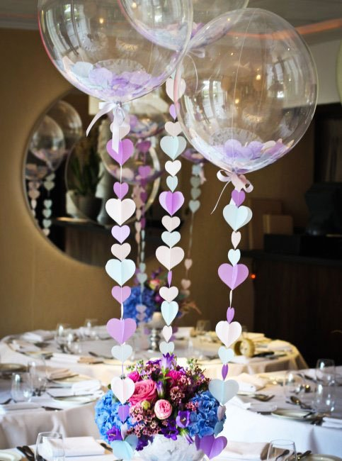 Balloons - simple wedding decorations for house