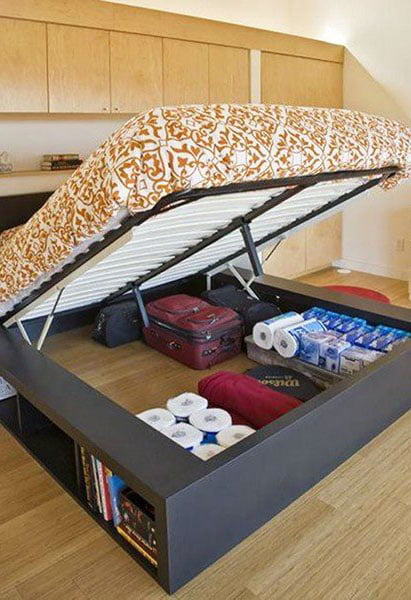 Bed-space-as-a-storage-space