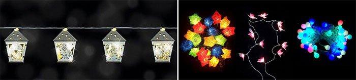 Garland With Bulbs - wedding house decoration ideas