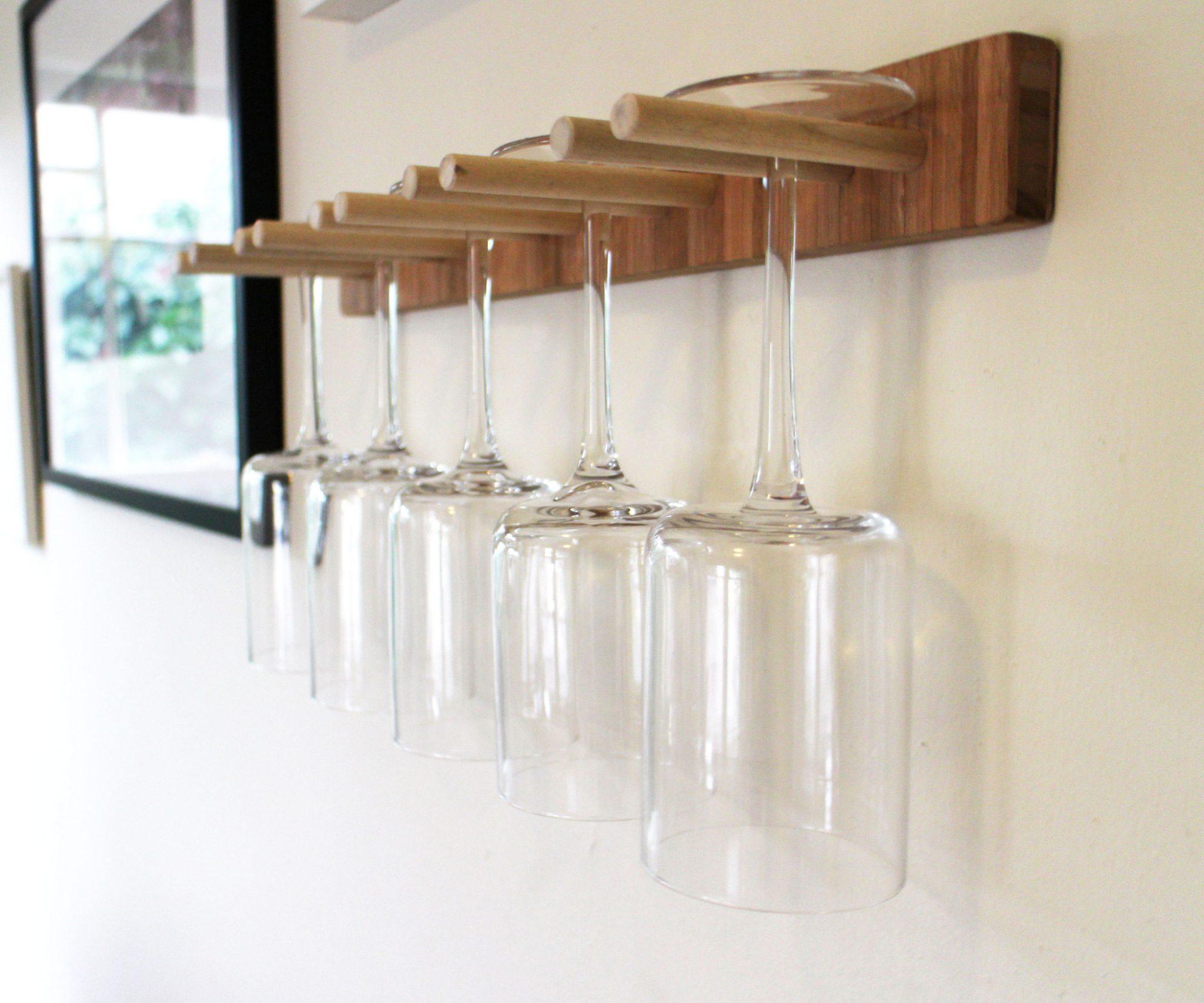 wine glass storage ideas