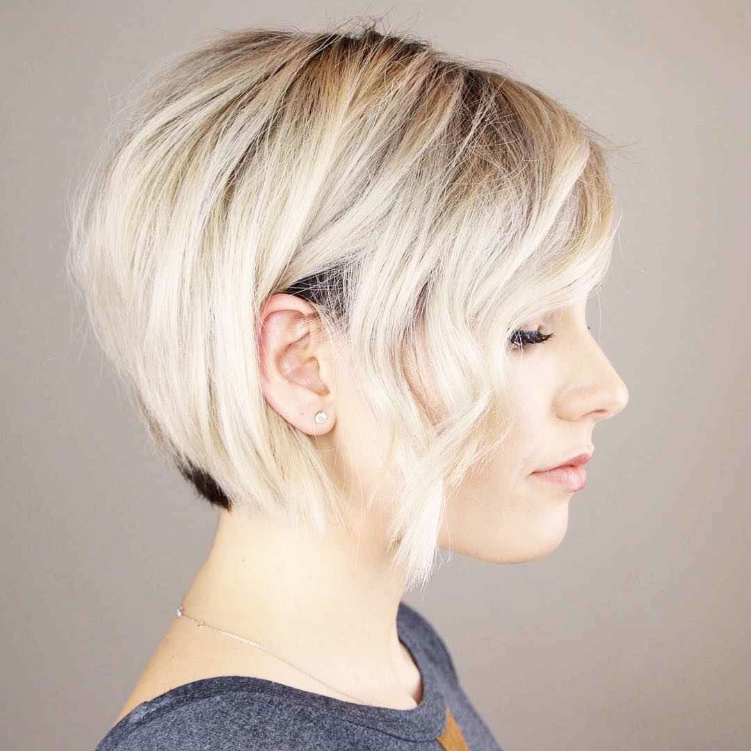 Hairstyles with white short hair