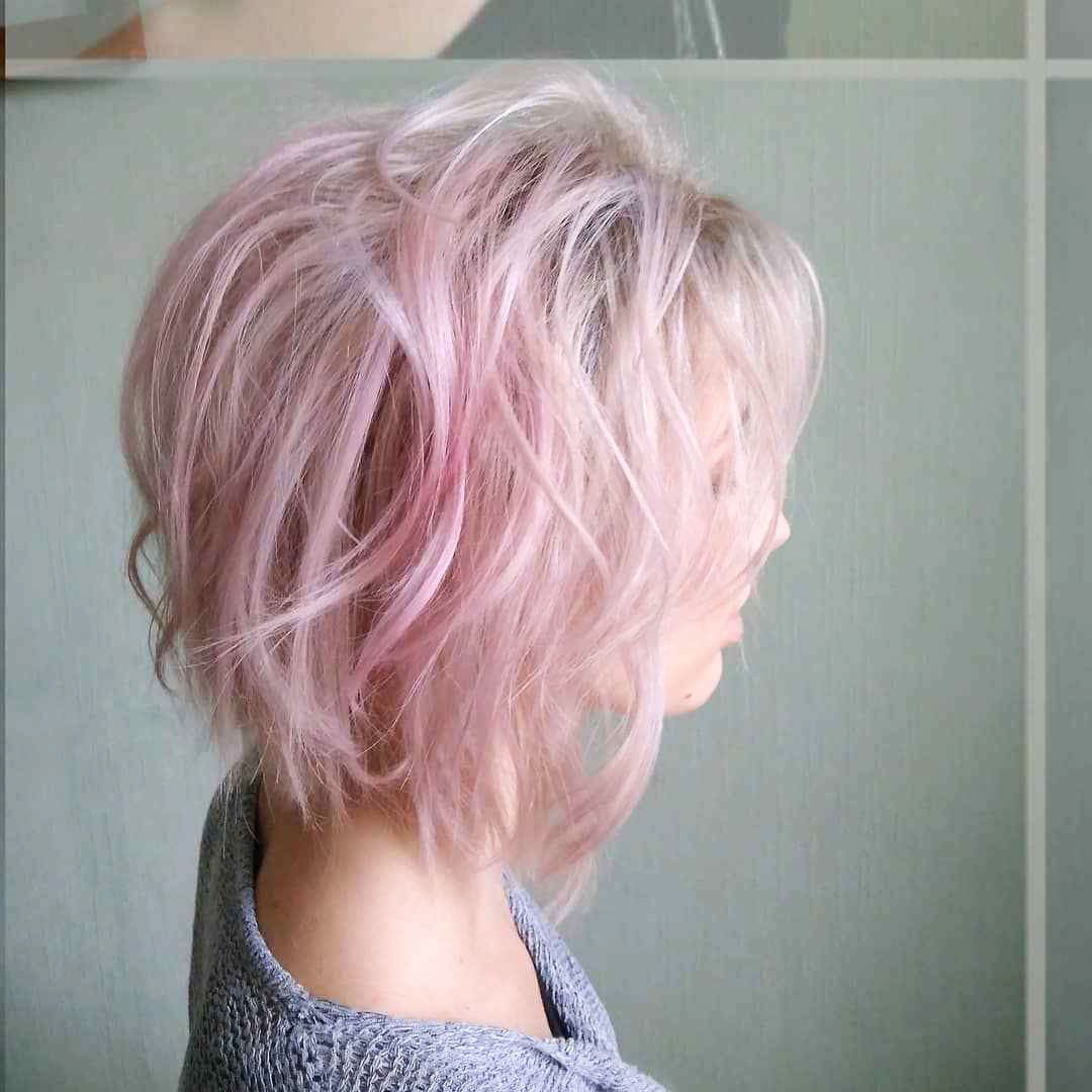 Hairstyles with pink color