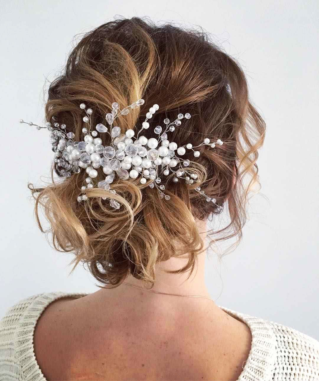 Hairstyles with white pins