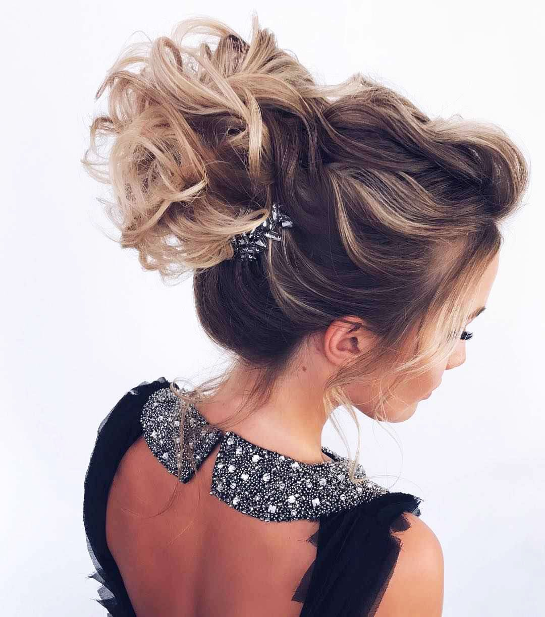 Hairstyles for prom for medium hair 2019-2020 photo 7