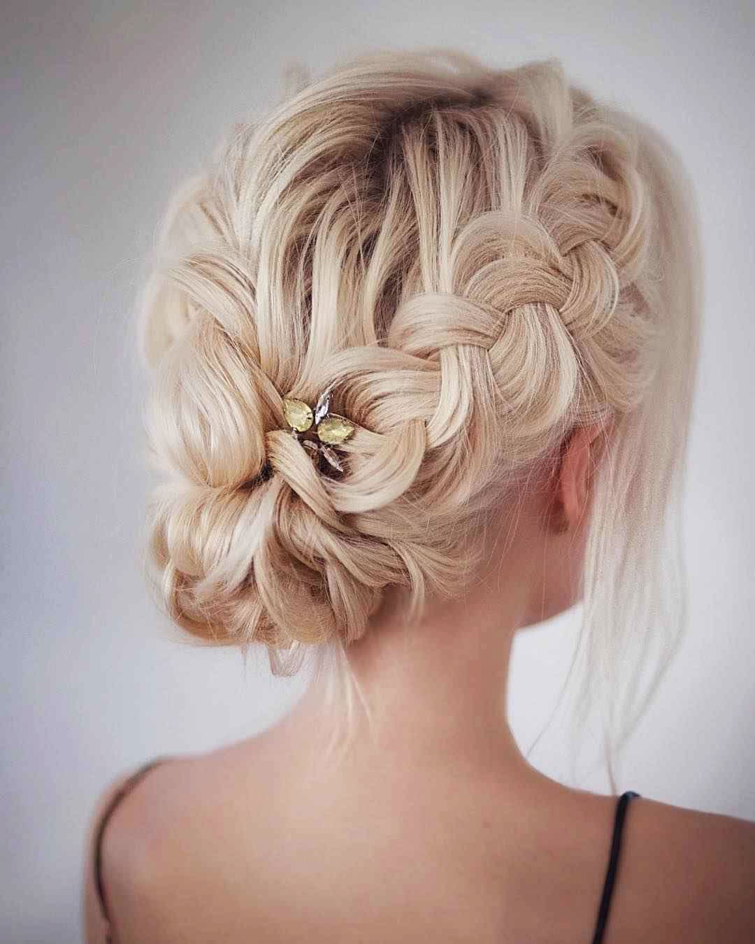 Hairstyles for prom for medium hair 2019-2020 photo 15