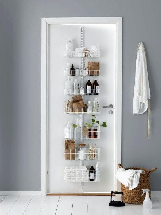 Shelves on the door