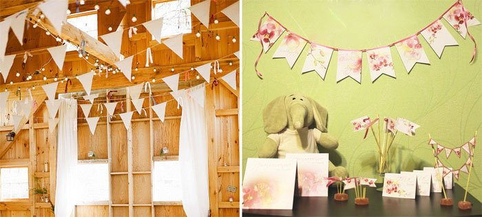 Paper Fans And Flags- Wedding House Decoration Ideas