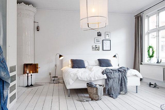 scandinavian bedroom design spacious room