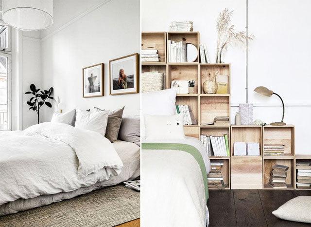 scandinavian style in the bedroom interior