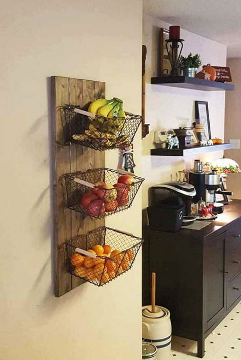 Fruit rack - Clever Storage Ideas For Small Houses