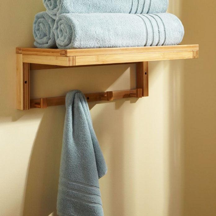 towel racks for small bathroom