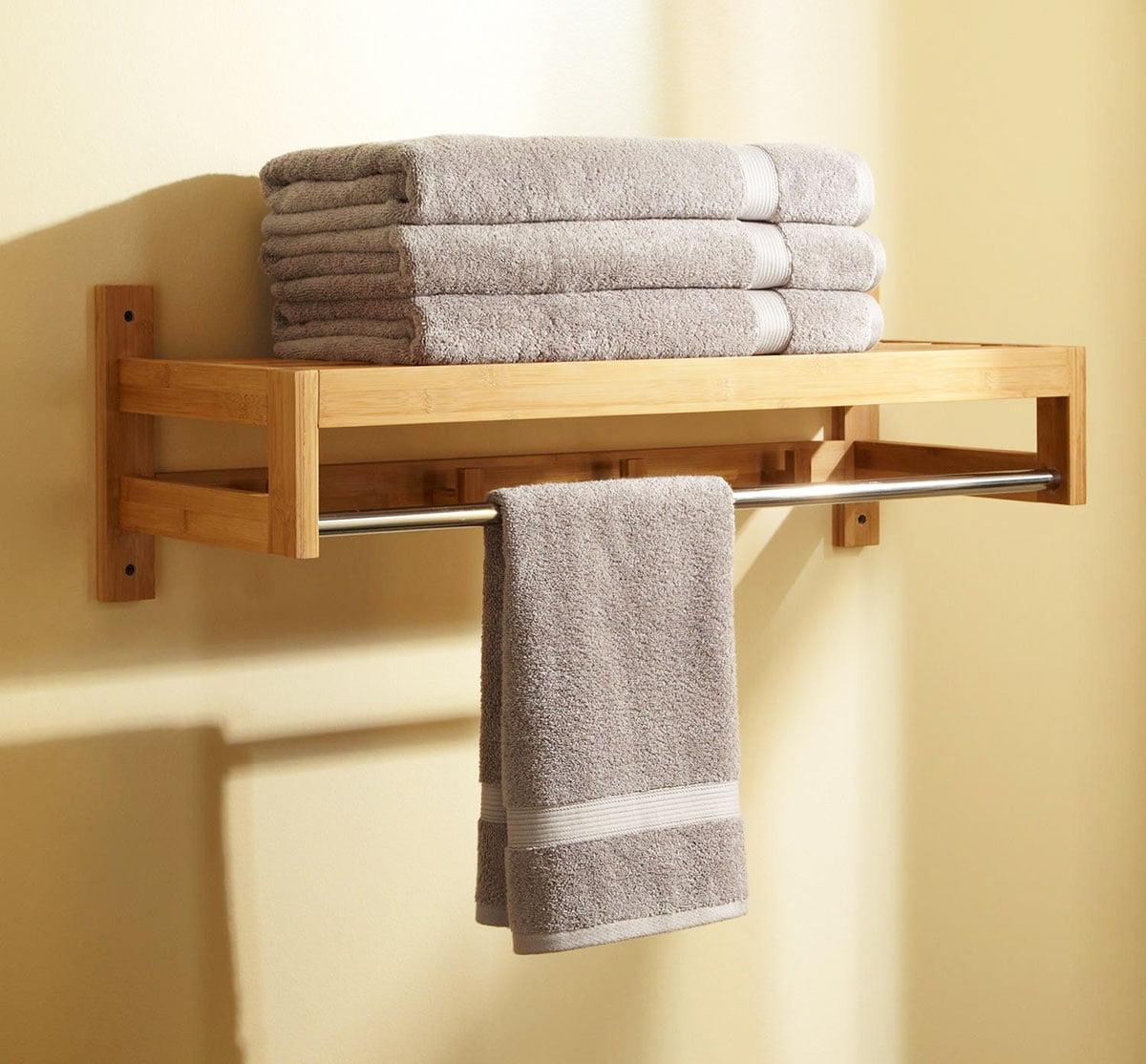 Towel racks - small house decorating ideas
