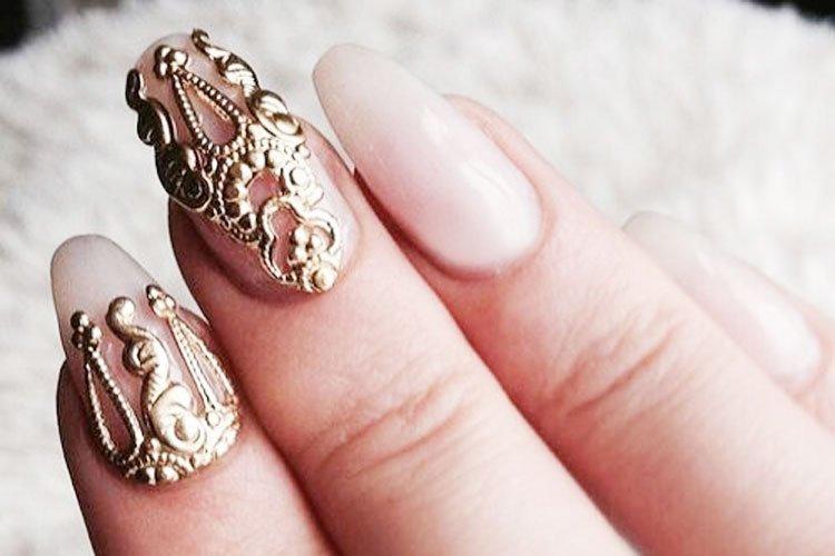 61 Best Wedding Nails For Brides 8