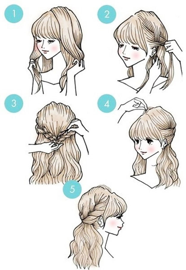 hairstyle for mom and daughter