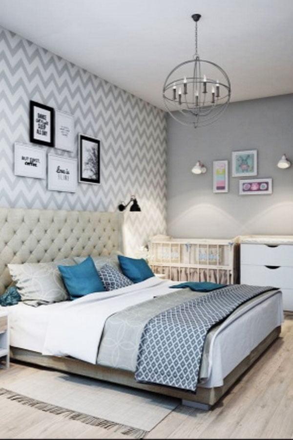scandinavian bed room