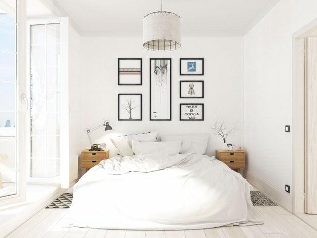 scandinavian house bed