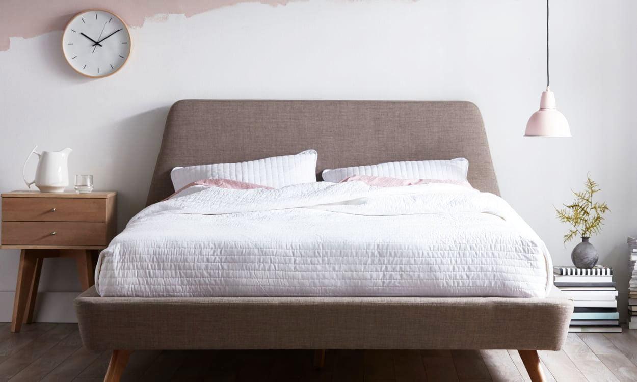 scandinavian style bedroom 3d