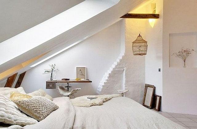 scandinavian style bedroom apartment