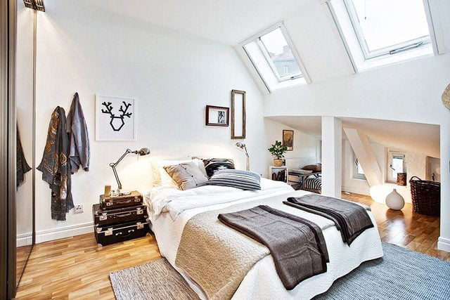 scandinavian style bedroom design