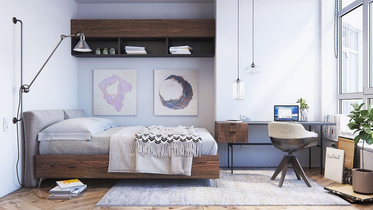 scandinavian style bedroom wall decor
