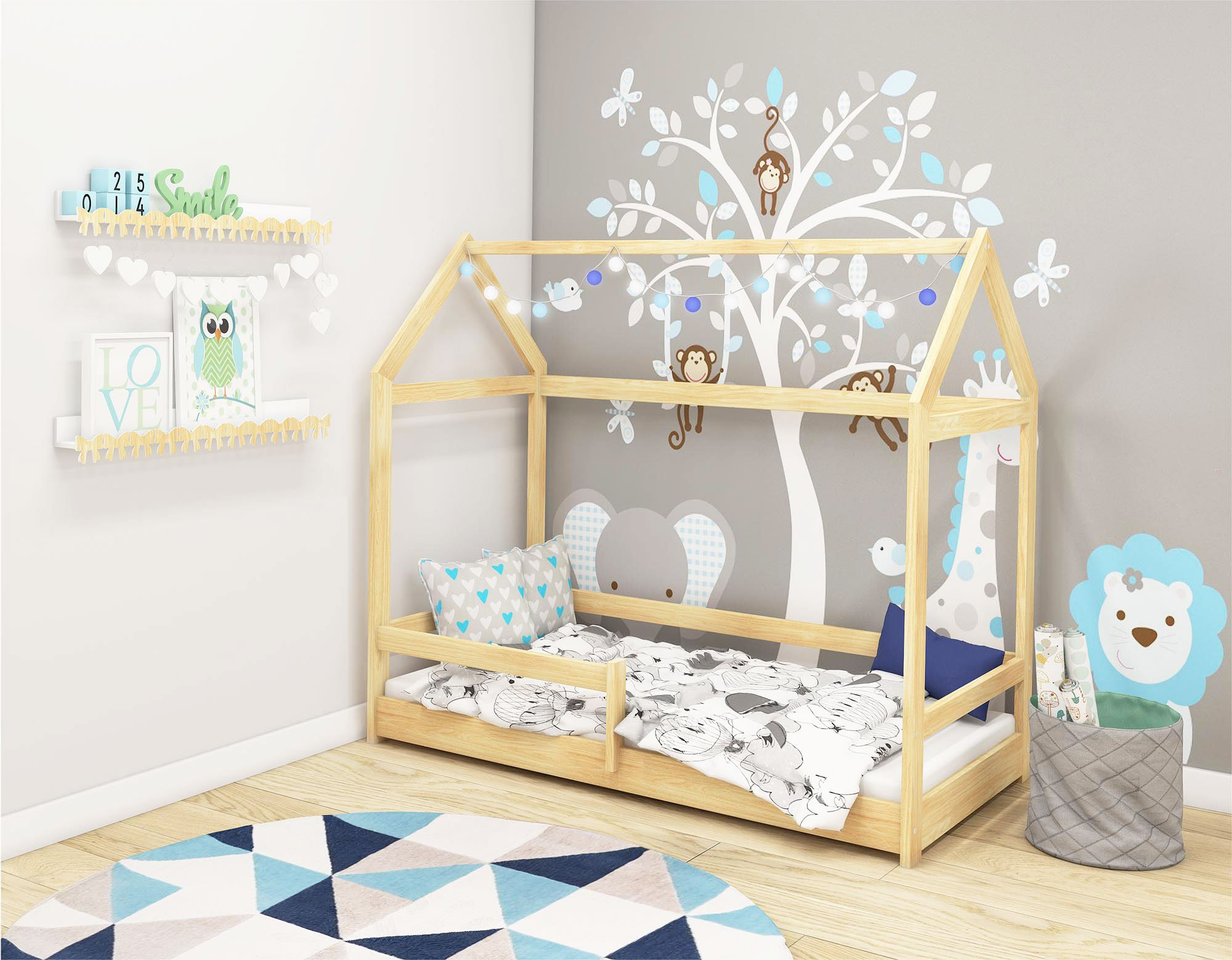 scandinavian style small bedroom