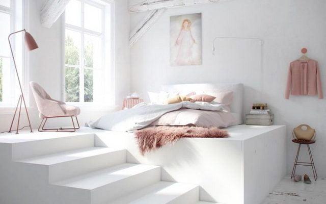 scandinavian twin bed