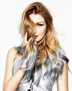 silver hair strands