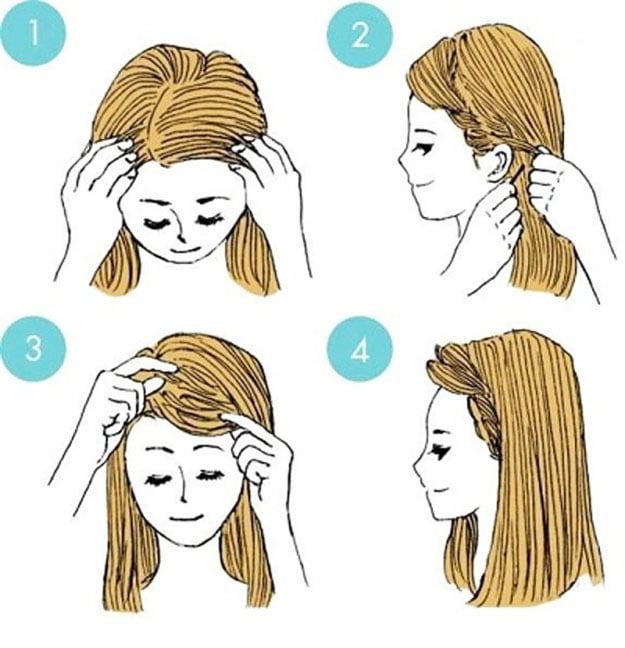style hair - Easy Little Girl Hairstyles Step By Step
