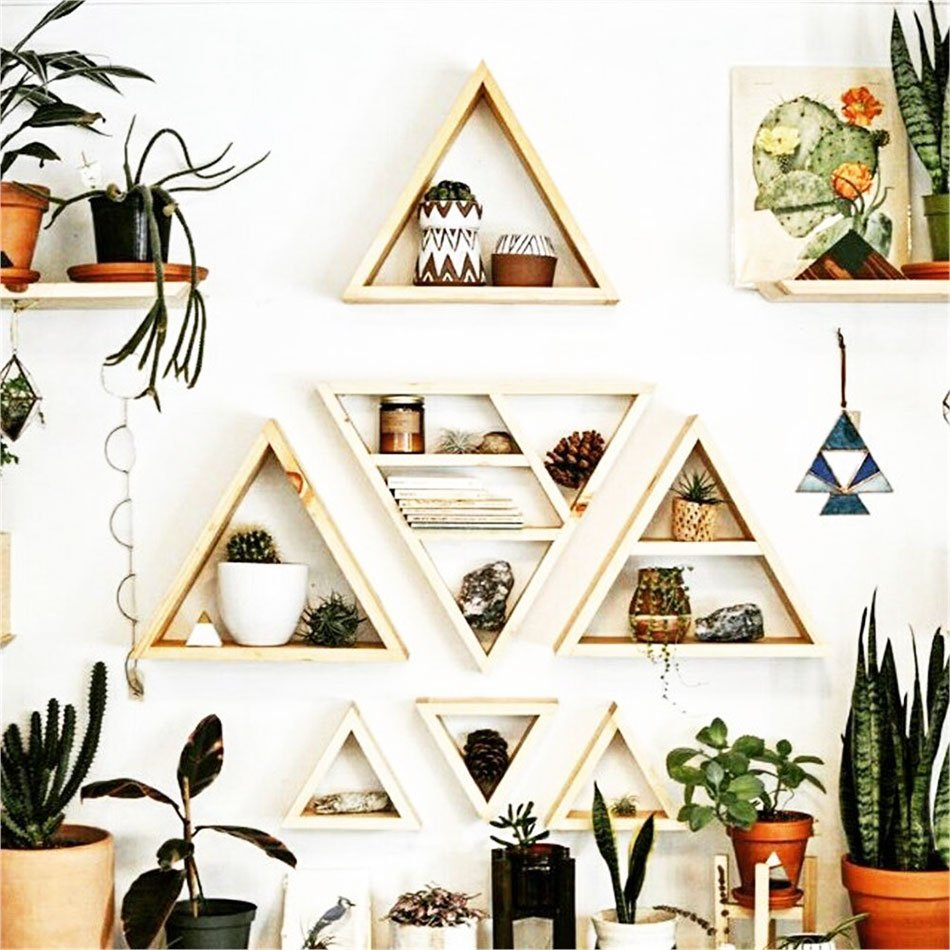 triangular wall shelving