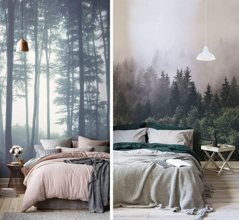 wallpaper-in-the-bedroom-scandinavian-style-forest