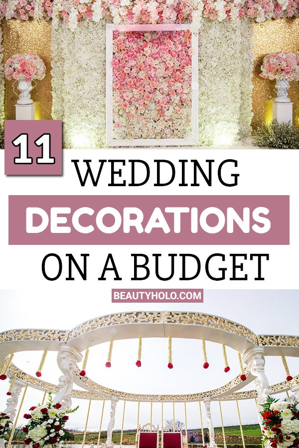 wedding decorations on a budget