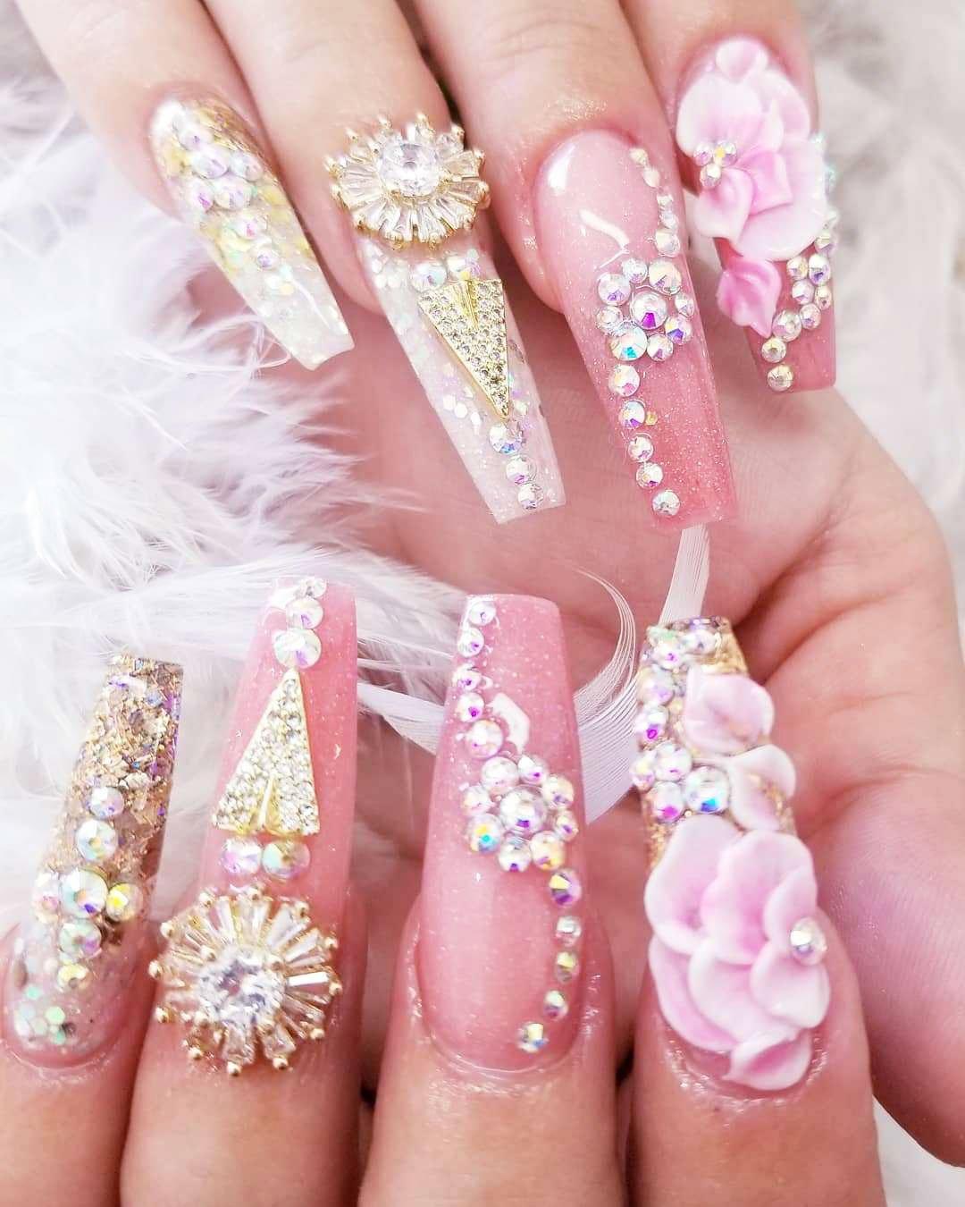 61 Best Wedding Nails For Brides 9