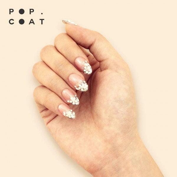 3D effect - wedding nail design