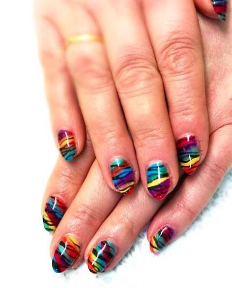 Ananimalistic nail print
