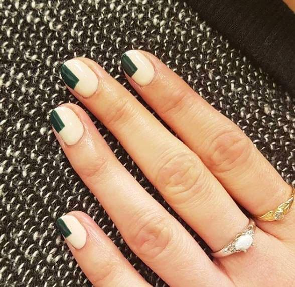 a nail art with avant-garde