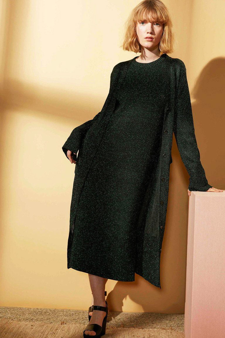 black gown for party - winter wear