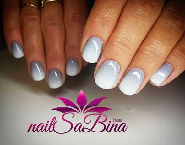 grey nails matte