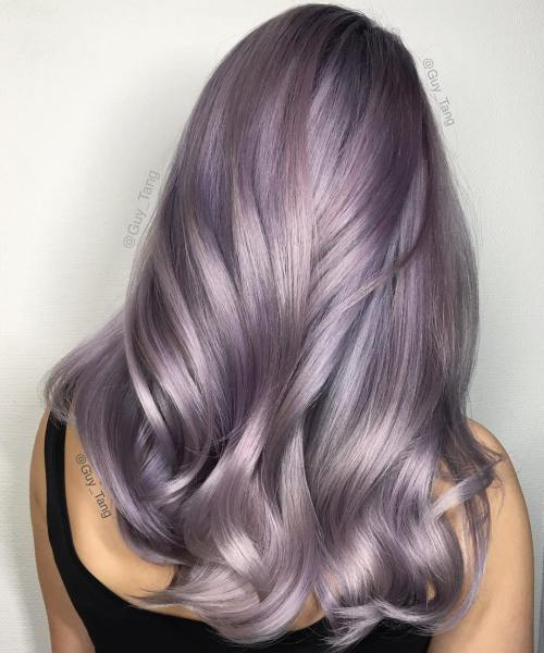 1-violet-silver-hair-color-for-blondes - silver dream