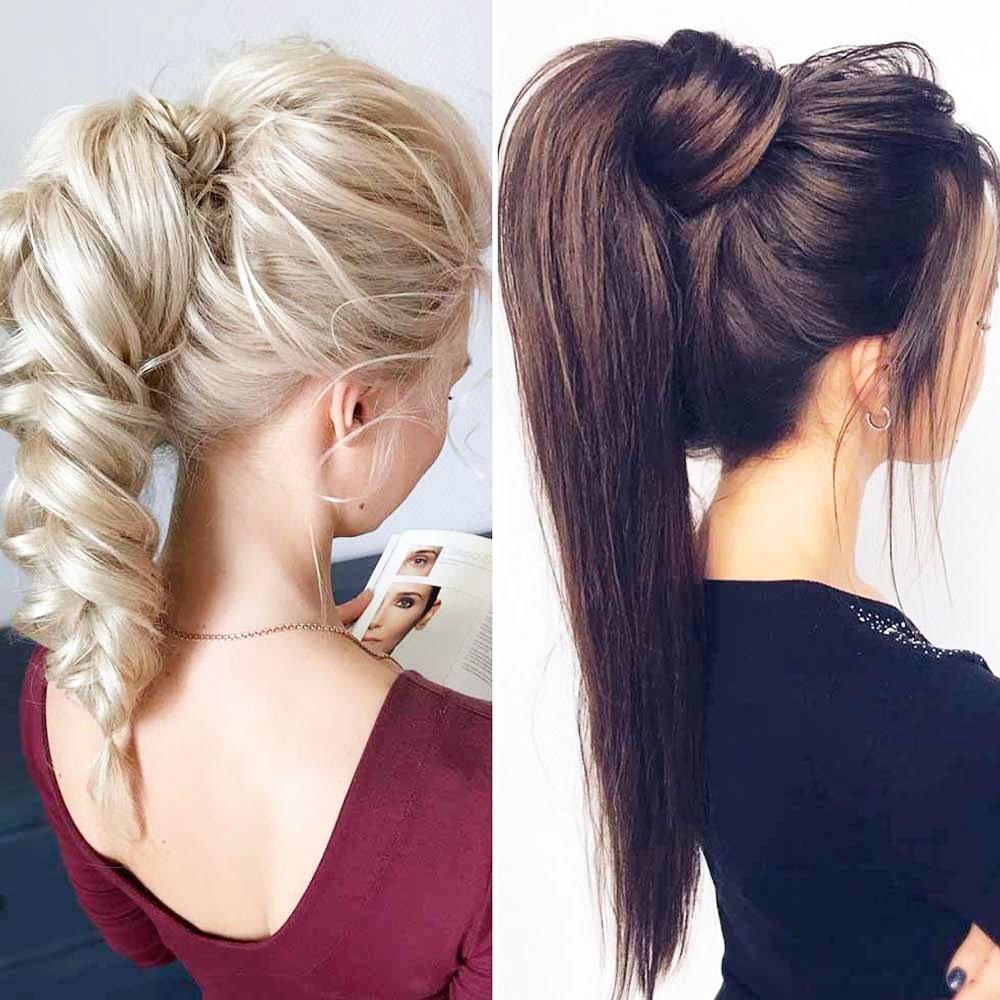 Homecoming Hairstyles Stylish Short Consky Tail - Homecoming Hairstyles Half Up Half Down Ideas