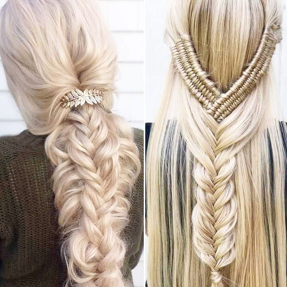 Konsky Tail With Fishtail Hairstyles Fashionable Hairstyles With A Tail: Low Tail - Homecoming Hairstyles Half Up Half Down Ideas