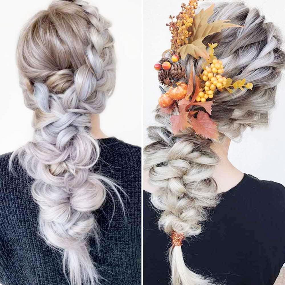 Boho, Half Updo Braid -  Homecoming Hairstyles Half Up Half Down Ideas