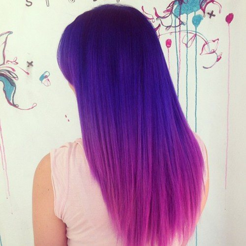 13-purple-to-pink-ombre-hair - purple highlights in blonde hair