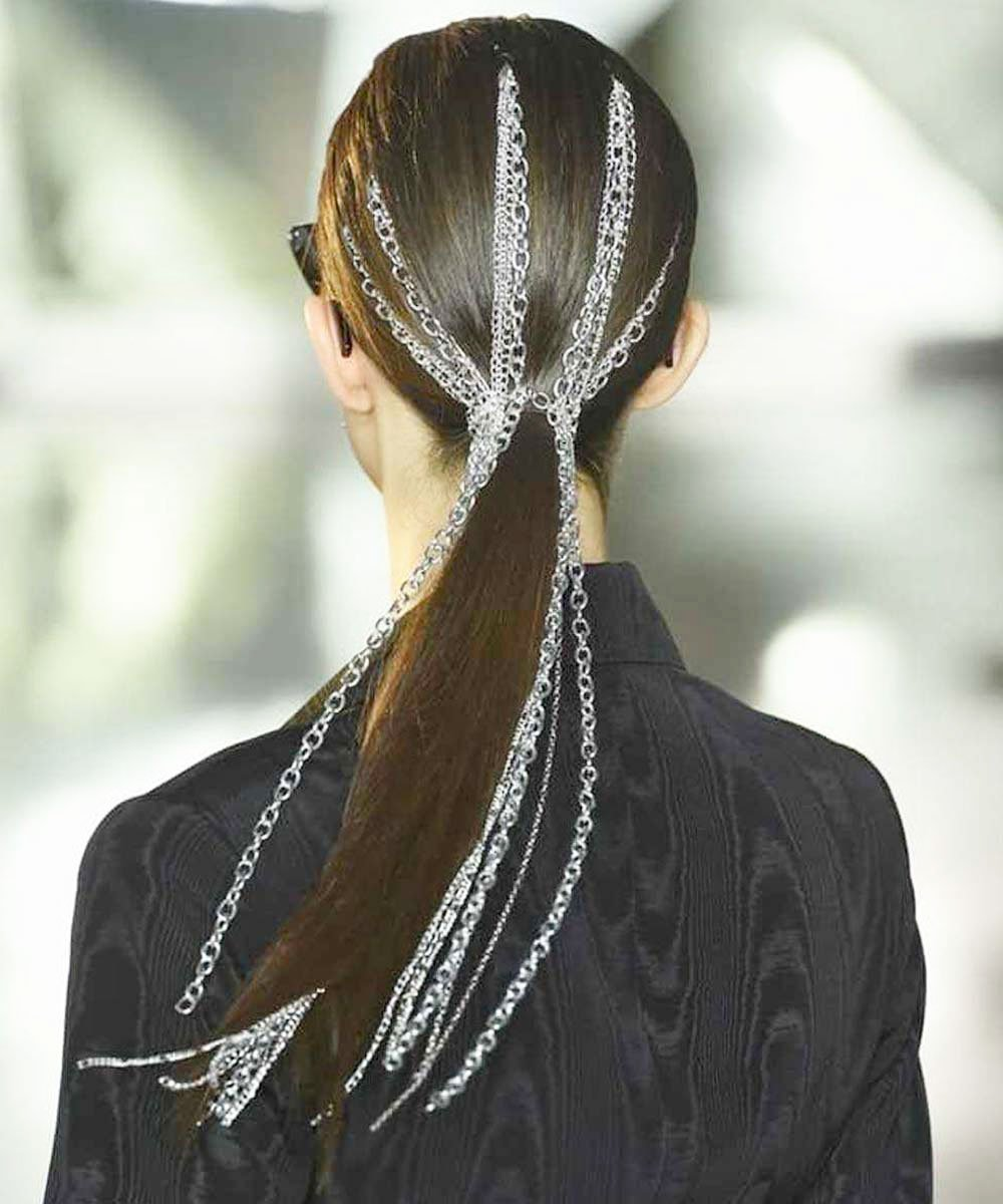 Brunette - Blonde Highlights On Dark Hair