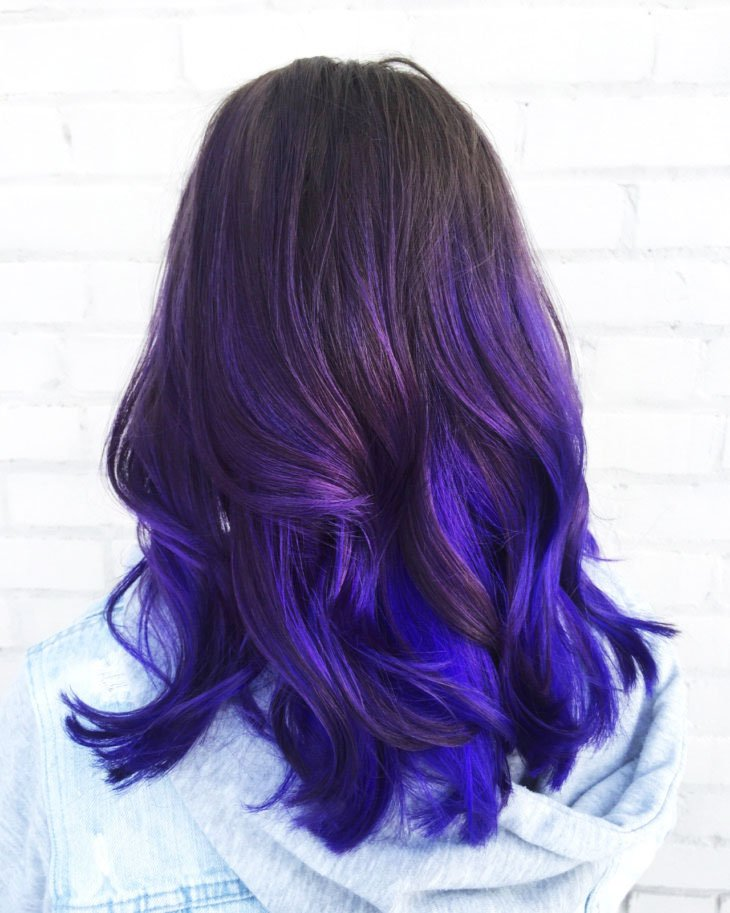 Blue-purple Ombre - 19-Awesome-Medium-Length-Purple-Hair-Highlights-In-Blonde-Hair
