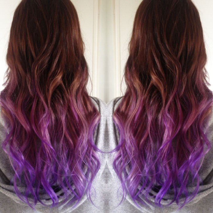 Black-purple Ombre - 19-Awesome-Medium-Length-Purple-Hair-Highlights-In-Blonde-Hair