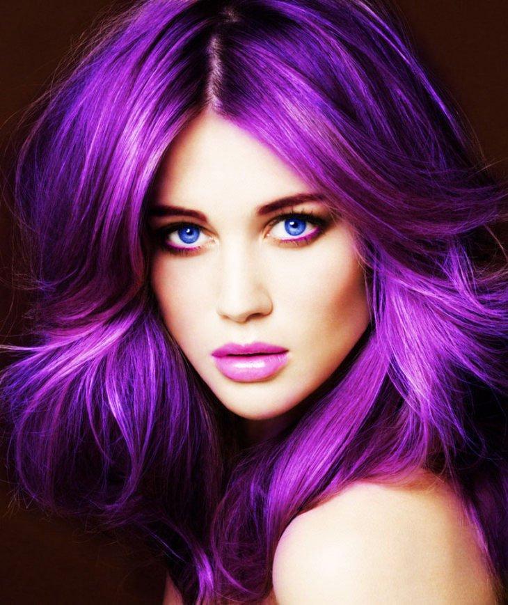 19 Awesome Medium Length Purple Hair Highlights In Blonde Hair